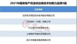 """立邦/三棵树/亚士/凯伦等获""""2021中国房地产企业优选供应商品牌"""""""