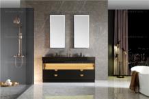 评测|普瑞凡眼界浴室柜,黑金撞色,轻奢气度